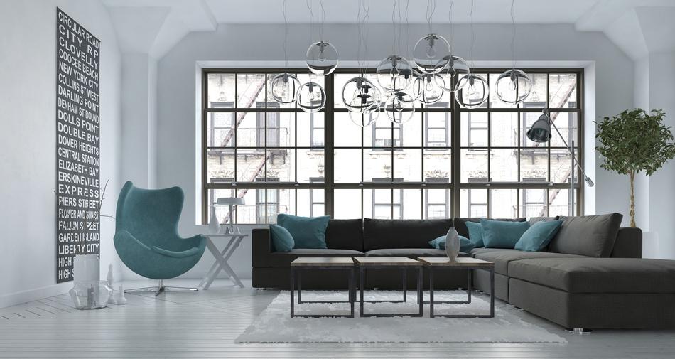 Conseil déco, home staging, relooking salon décor industrielle