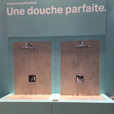 Geberit douche nouvelle collection Salon Batimat